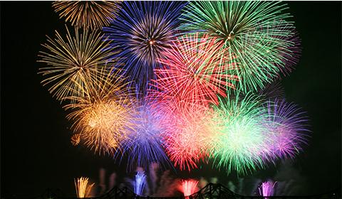 長岡まつり大花火大会。日本三大花火大会の1つです。